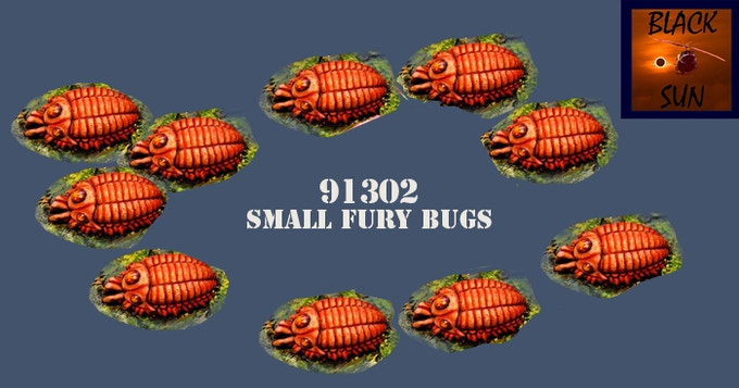 91302 Small Fury Bugs (10). All figures come in 28mm scale unpainted white metal.
