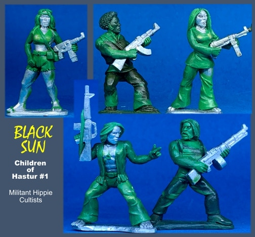 91601 Children of Hastur #1. All figures come in 28mm scale unpainted white metal with a base.