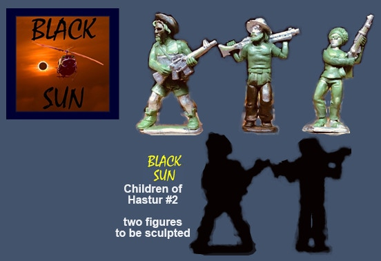 91602 Children of Hastur #2. All figures come in 28mm scale unpainted white metal with a base. Two more figures need to be sculpted for this package and are not pictured.