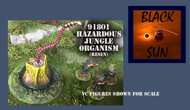 91801 Hazardous Jungle Organism. This figure comes in 28mm scale unpainted resin.