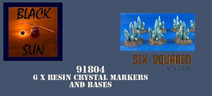 91804 Crystal Markers(6). These figures come in 28mm scale unpainted resin.