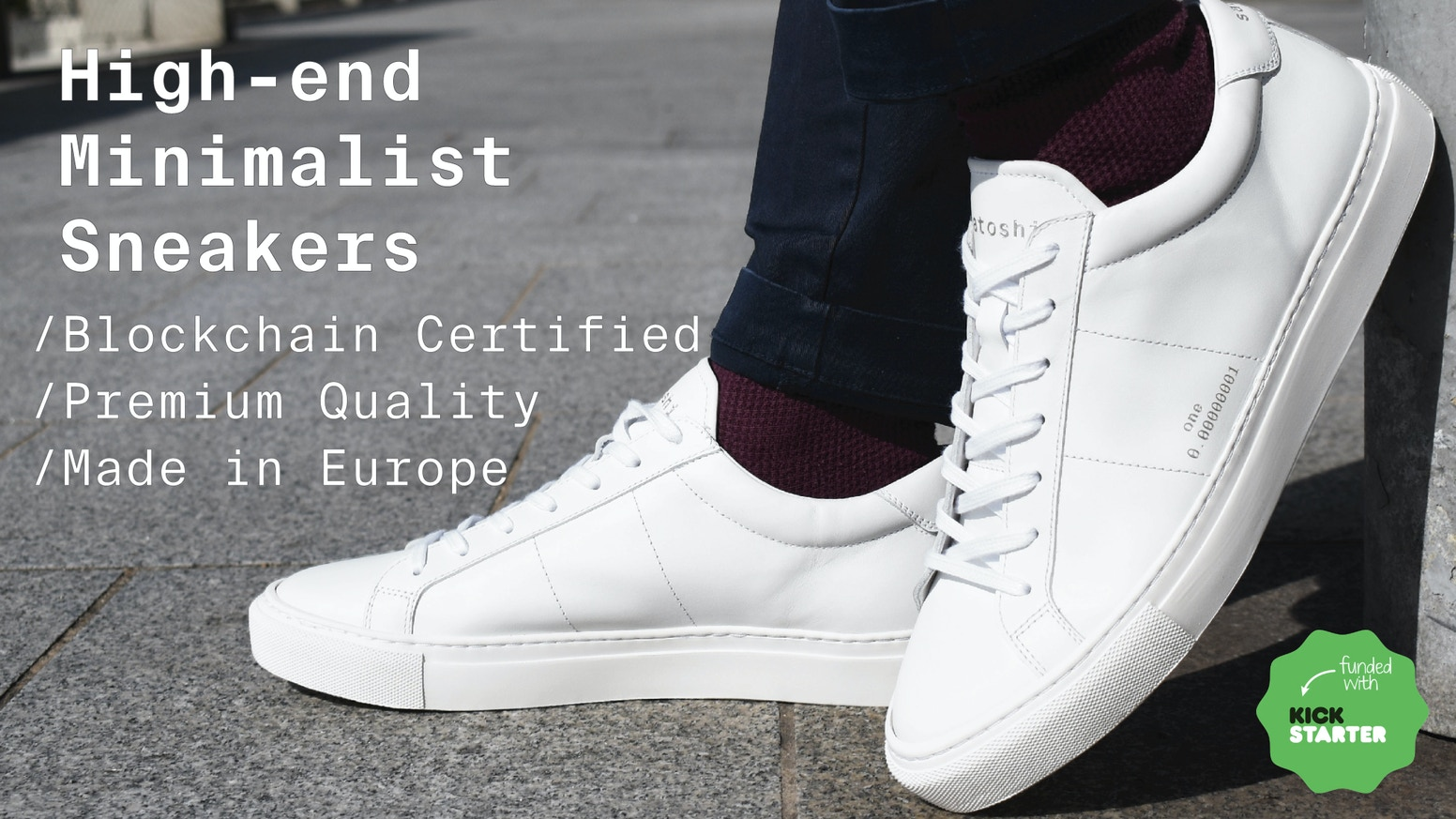 Minimalist high-quality sneakers certified on blockchain. Circular Fashion / Made in Europe / Premium Quality / Unisex.