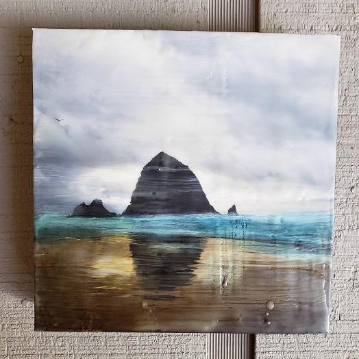 Sample Art: Haystack Rock, Oregon