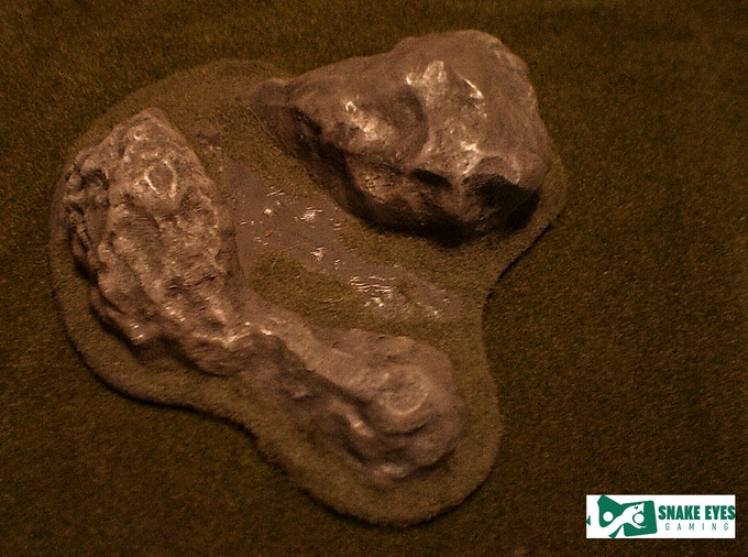 outcrop #1 - printed, painted and based