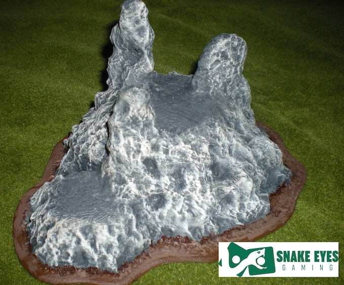 outcrop #4 front view - printed and painted