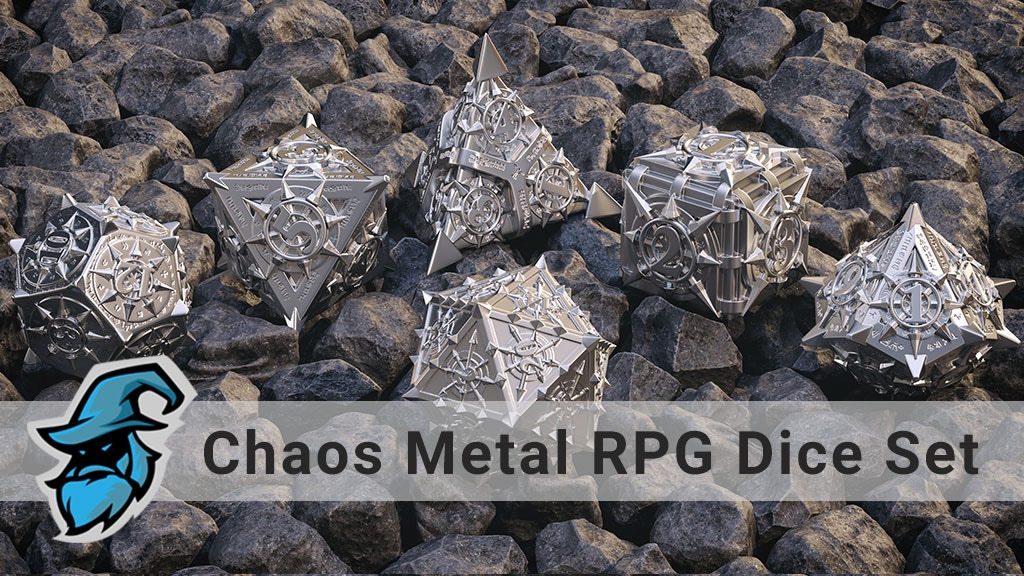 The Path of Chaos Metal RPG Dice Set project video thumbnail