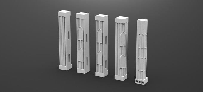First Floor Columns