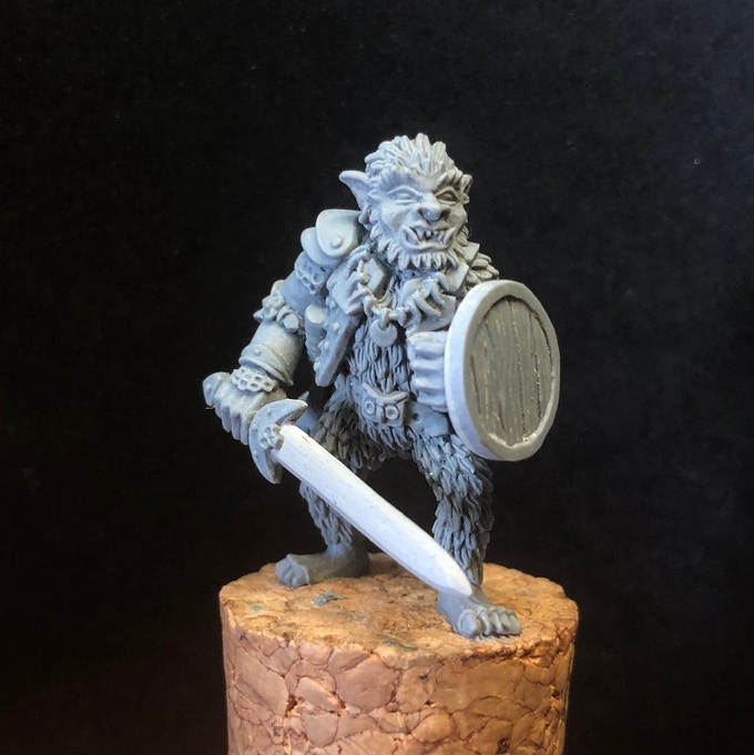 Hand sculpted master model.