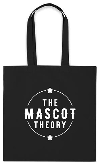 TMT TOTE BAG - white ink on black fabric