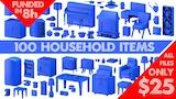 Household items - 3D Printable Models Sets thumbnail