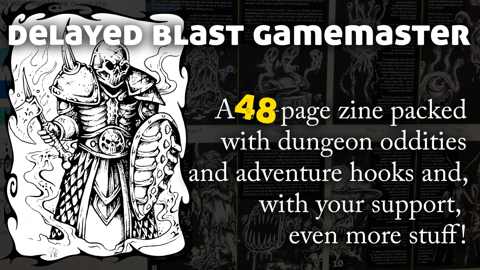 A 24-page (now 48!) saddle-stitched zine loaded with ideas for use with many fantasy RPGs.