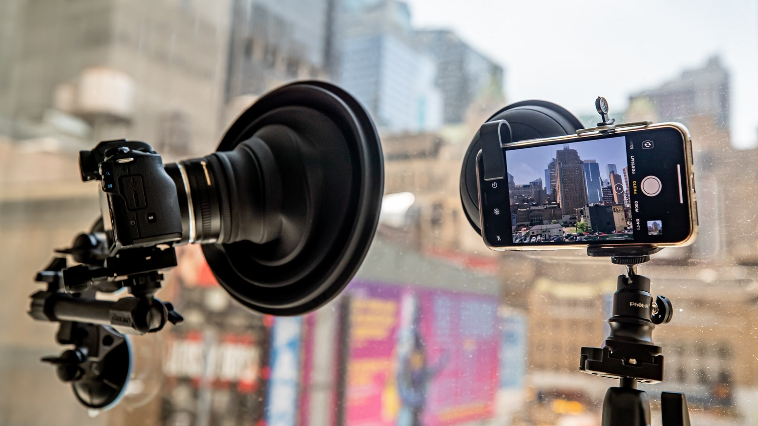New for 2019, take reflection free photos, videos & time lapses with your smartphone and the ULHmobile! + ULHgo for DSLR & Mirrorless!