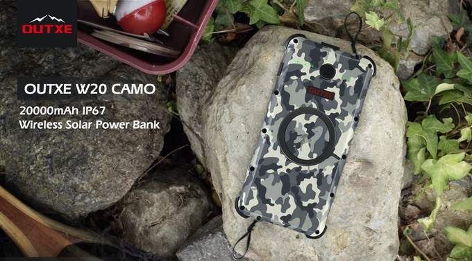 OUTXE W20: Rugged IP67 Waterproof Wireless Solar Power Bank