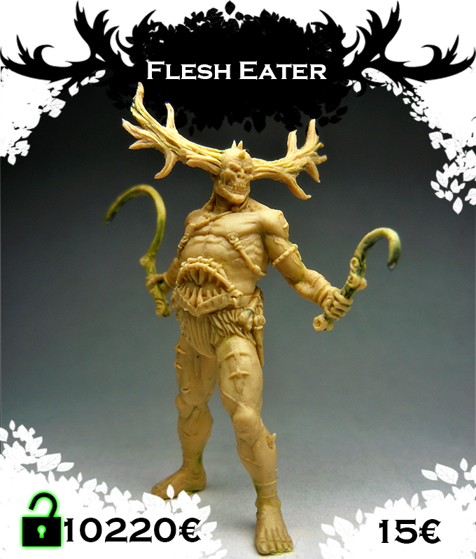 Flesh eater, monster of the Cannibal tribe. Click for more pictures.