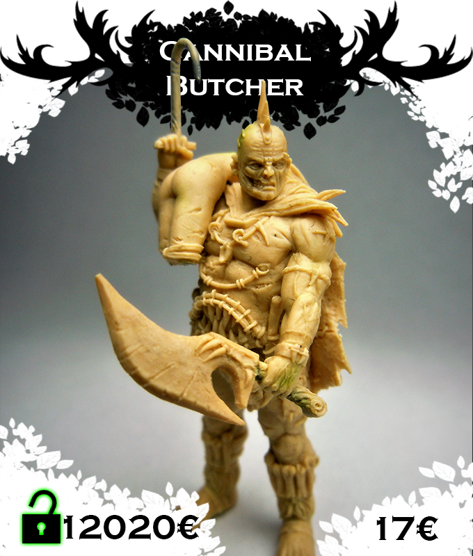 Cannibal butcher, 39mm of vicious brutality, great Cannibal cook. Click for more pictures.