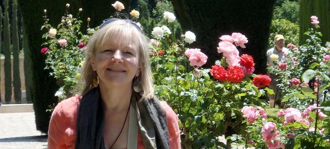 In the Rose Garden at The Alhambra, Granada, Spain in April 2010