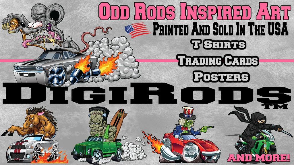 DigiRods - Odd Rods Inspired Hot Rod Cars Graphic Art Series