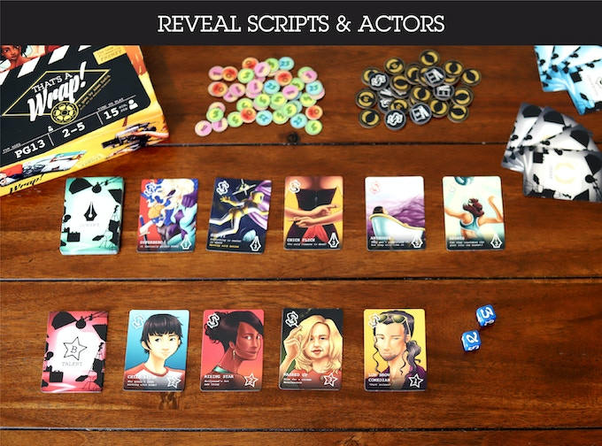 Draw the Talent and Script cards to be bid on during this round