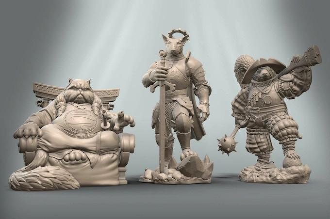 3D models for Muhur-Khan, Desmond and Torquato
