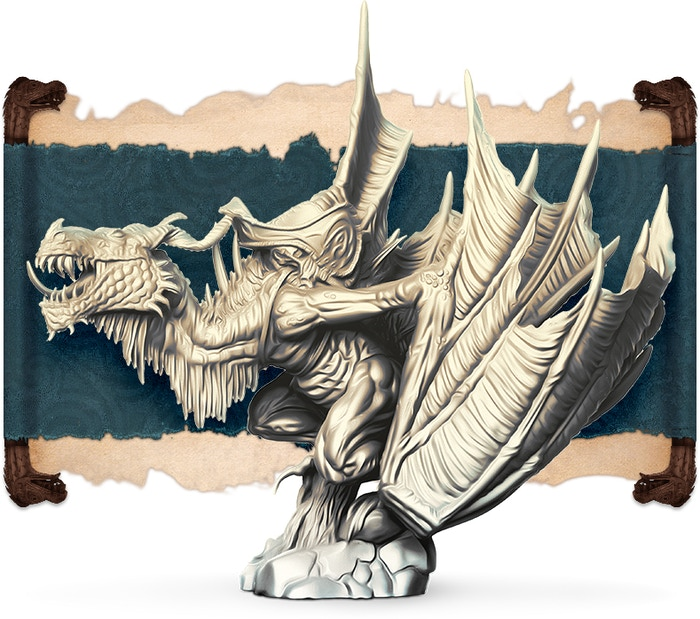 Thorn Beastの象牙レンダリング、正面図。