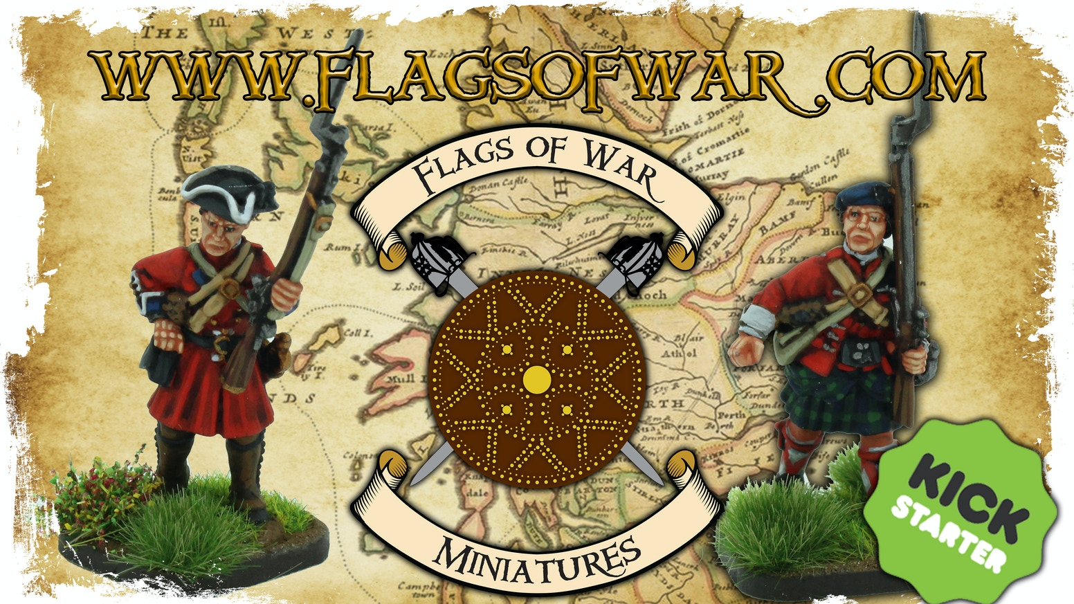 New 28mm miniatures for the British Government Troops during the 1745 Jacobite Rebellion.