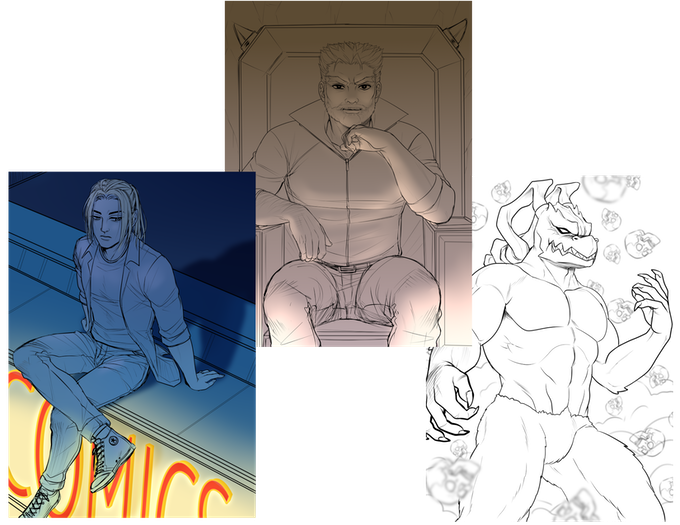 Villains Card Series (WIP) - Illustrated by @ZombieDaisuke