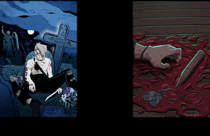 Cover Art by Emmett Helen (Heroes) and Scott Malin (Villains)