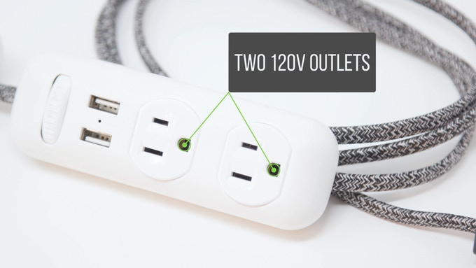 2x 120v Power Outlets