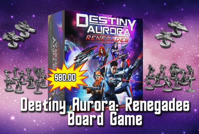 Destiny Aurora: Renegades Board Game Complete with Miniatures