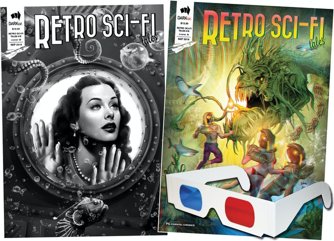 Retro Sci-Fi Tales #8 - Limited Edition variants C and D