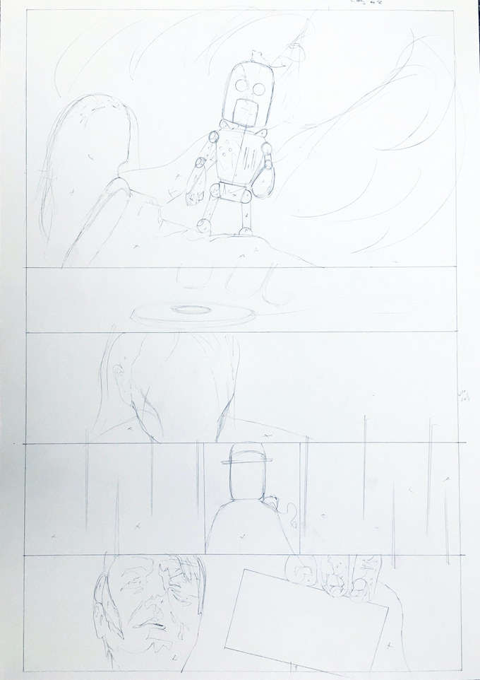 Original Art Page 1 - Sam Bentley - 'They Never see it Coming' Page 8 - Cognition #0