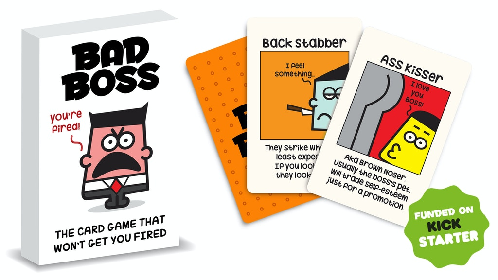 Bad Boss | The Card Game That Won't Get You Fired project video thumbnail