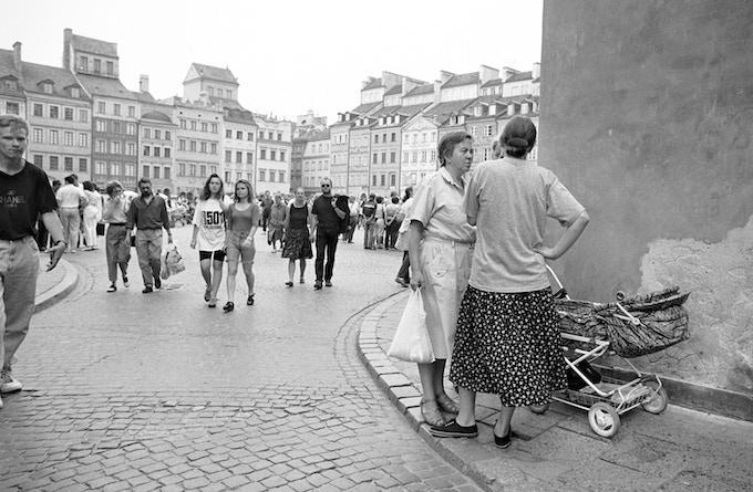 Old Market Square in Warsaw, totally rebuilt after World War II.