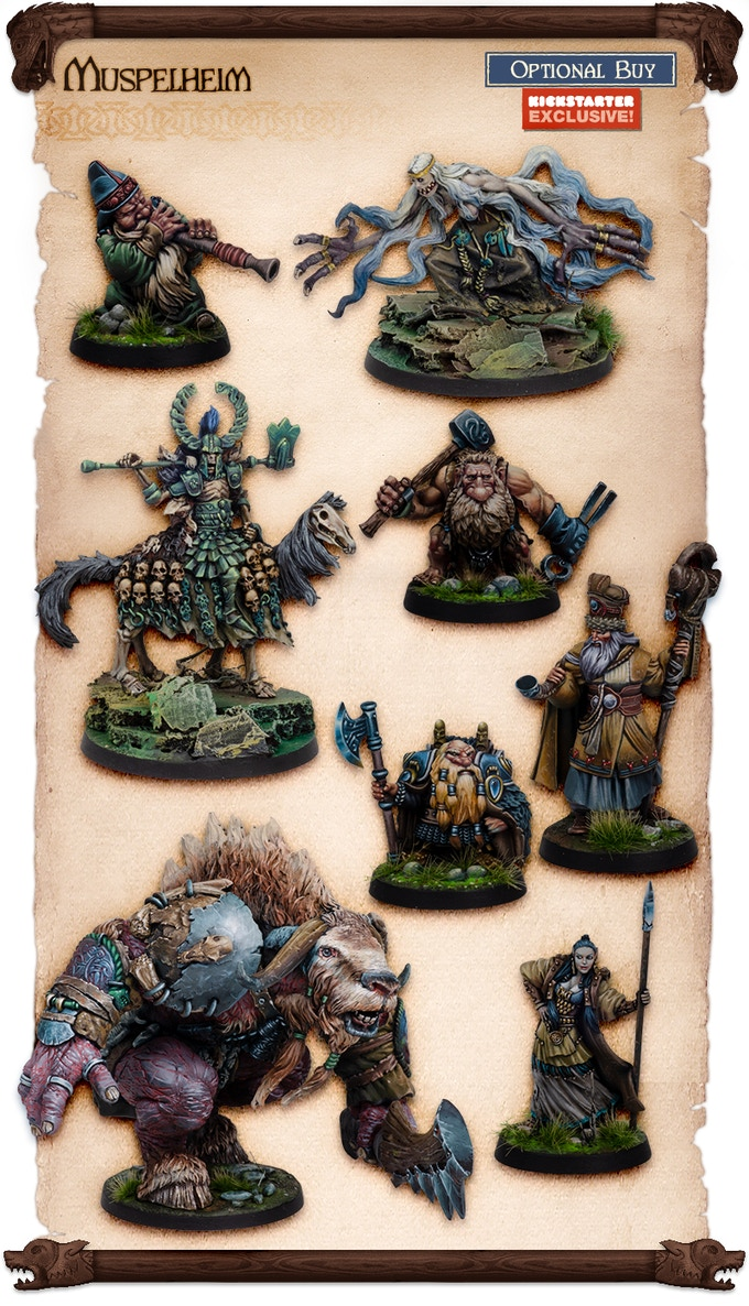 Sculpted by Juan Navarro and Edgar Ramos. Painted by Robert Karlsson and Fabrizio Russo. NOTE THE FIGURES COME UNPAINTED.
