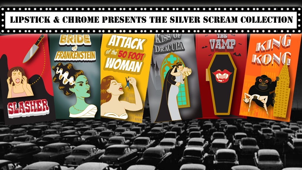 Lipstick & Chrome presents The Silver Scream Pin Collection project video thumbnail