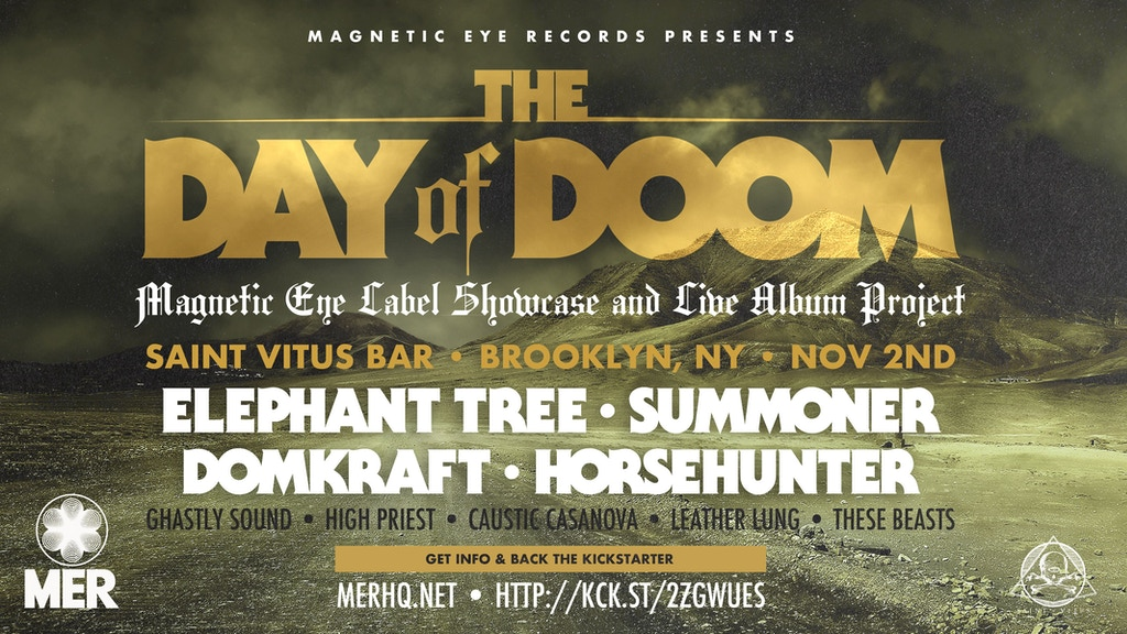 Project image for The Day of Doom NY | MER Label Showcase & Live Album Project