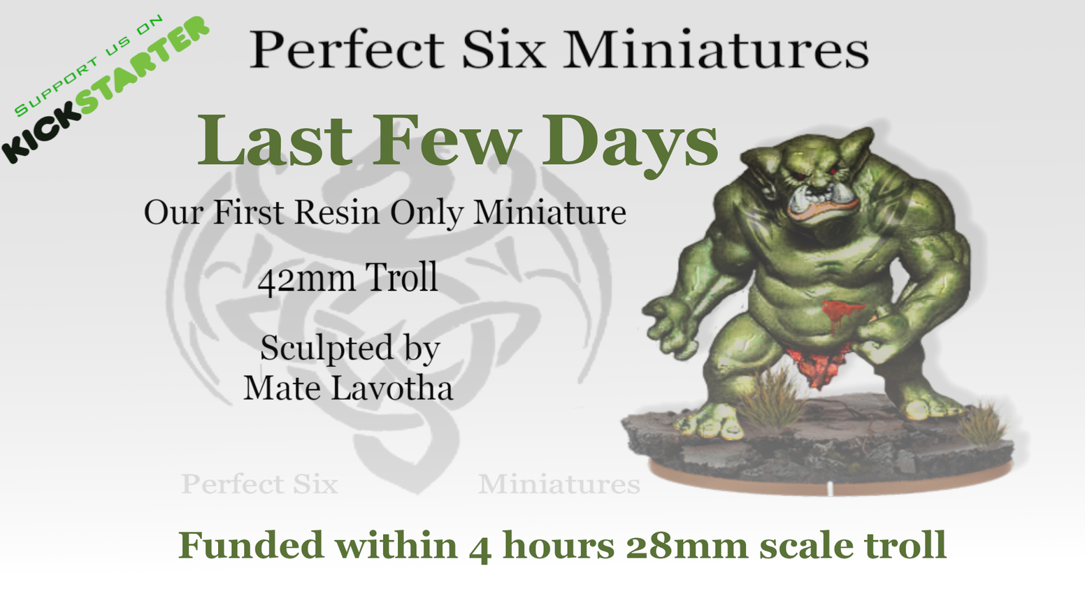 28mm or 32mm scale High Quality Resin Troll Miniature