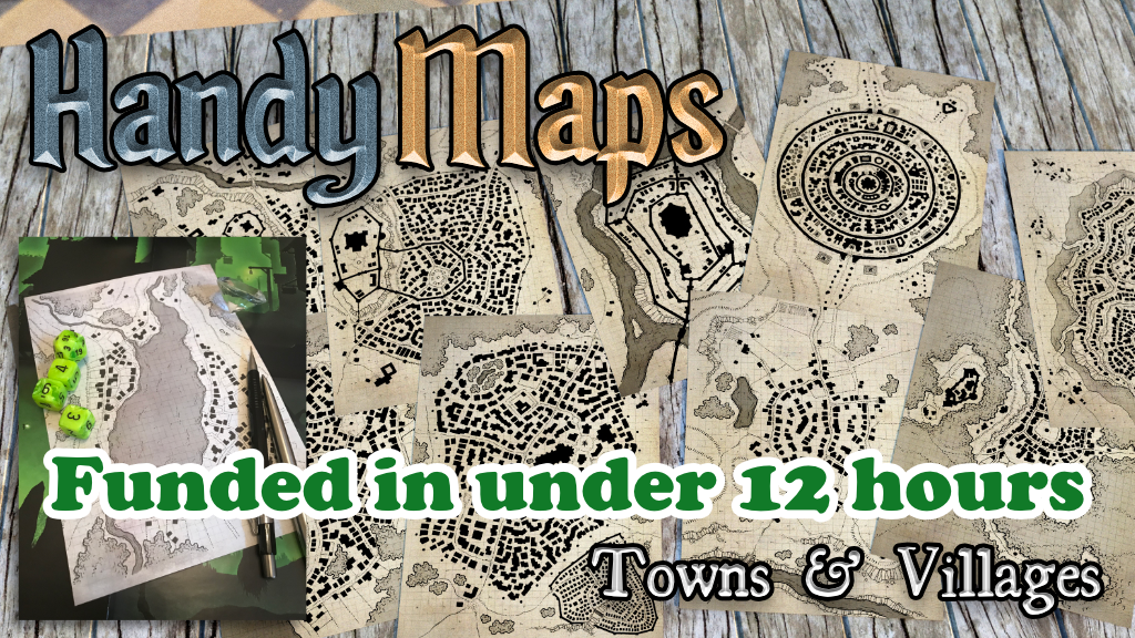 Project image for HandyMaps - Town & Village A5 Card Handouts for RPGs