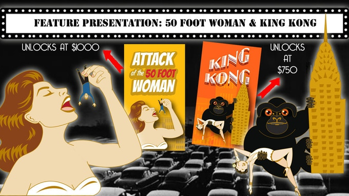 Attack of the 50 Foot Woman and King Kong