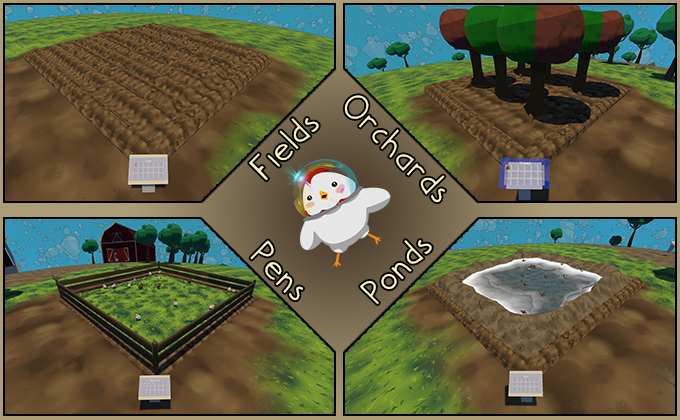 Some of the basic farming plots you can work with.