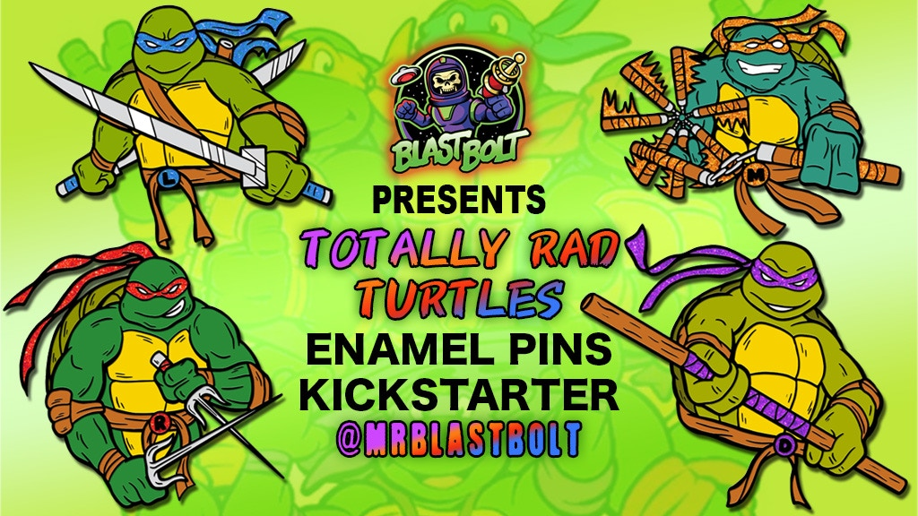 Project image for Totally Rad Turtles Enamel Pins