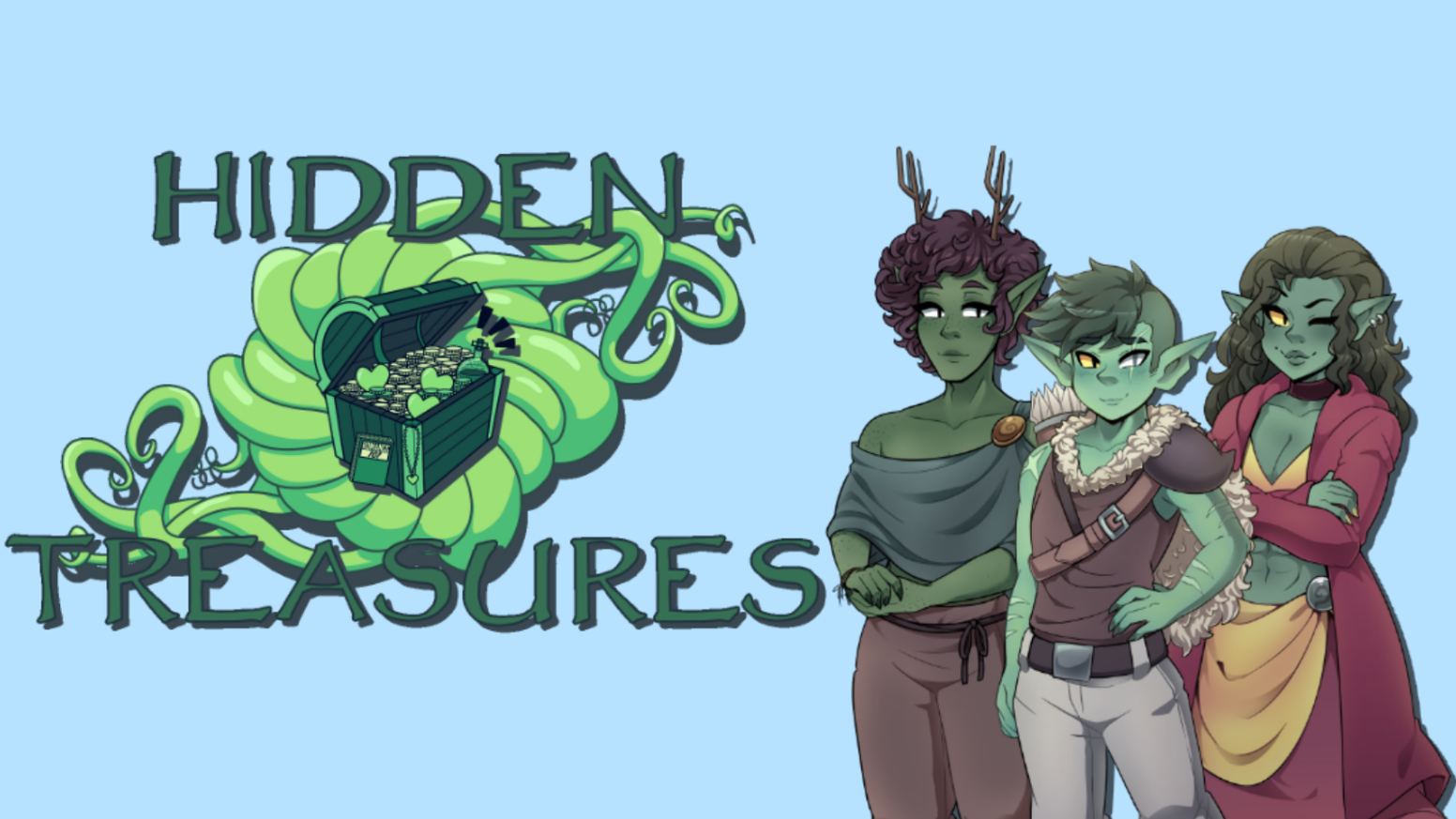 The Goblin Dating Sim. Get to know the characters of a new world, and explore using simplified mechanics you may already know from the classic TTRPGs.