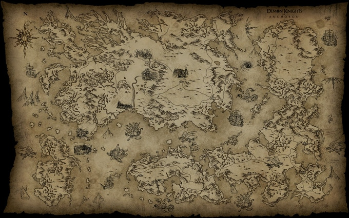 The world of Ankhoron with many undiscovered lands