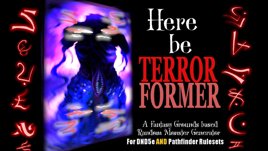 Project image for Terrorformer: Create Endless New Monsters for RPG!