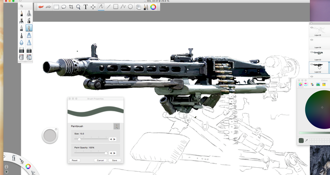 Work in Progress! German MG42 artwork