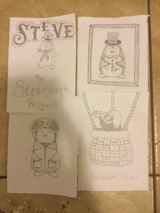 The Adventures of Steve, the Steampunk Guin