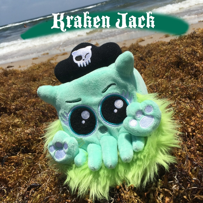 "Kraken Jack has belly embroidery that reads, ""Salty but sweet."""
