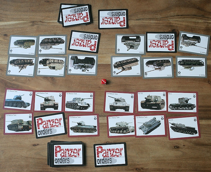 A game  of Panzer Orders Tank Battles in progress