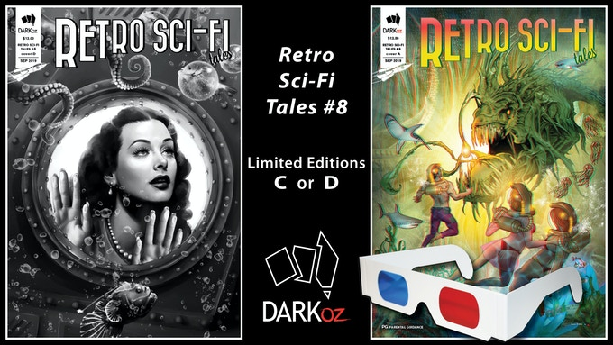Limited Edition covers C or D - Retro Sci-Fi Tales #8