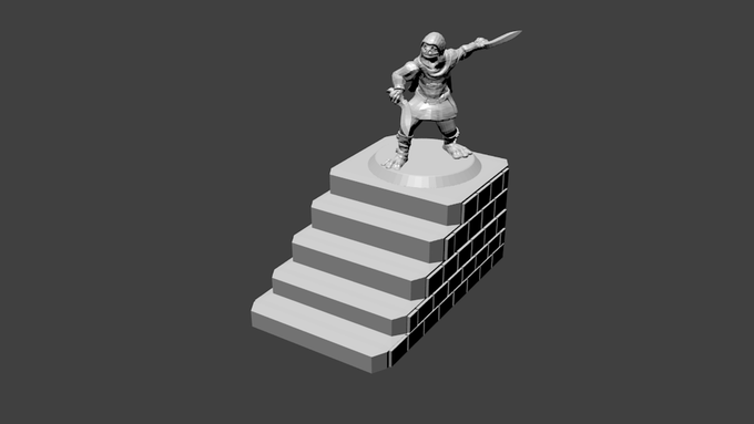 Stair pieces are large enough to fit your players on
